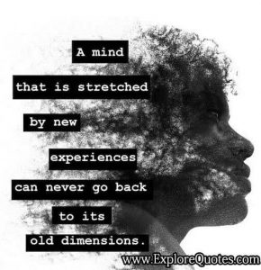 A Mind that is Stretched by New Experiences