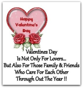 Valentines day is not only for lovers