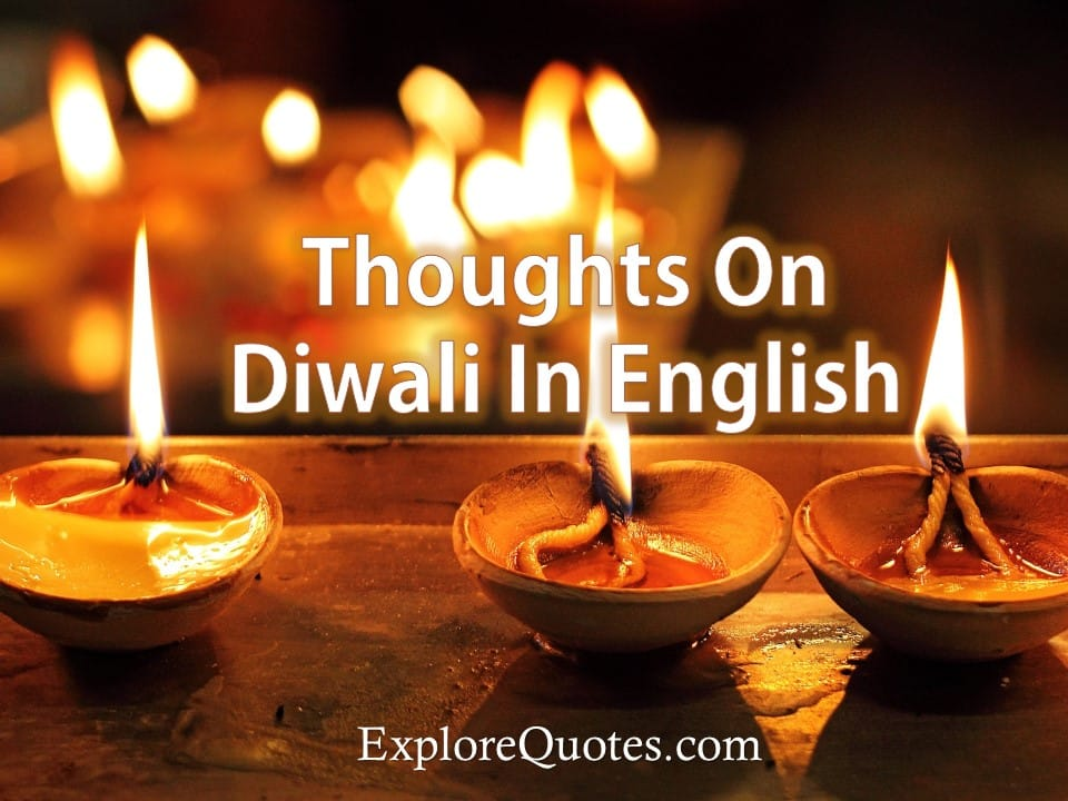 Thoughts On Diwali In English