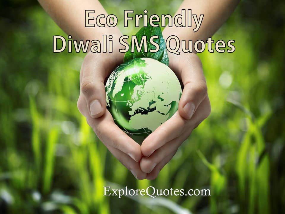 eco friendly diwali sms quotes