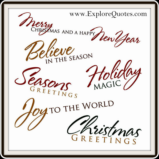 christmas phrases - Short Christmas Sayings For Cards