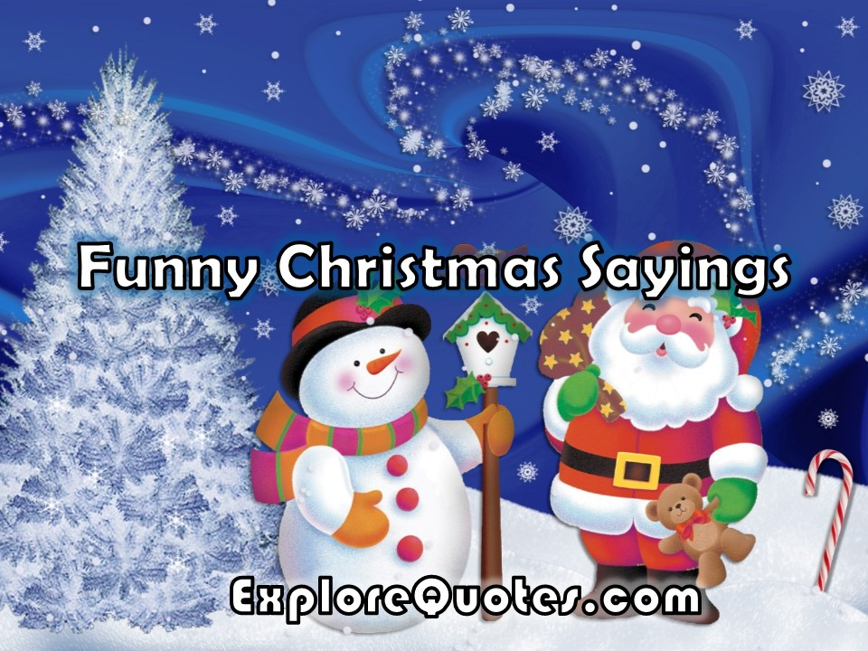 Funny Merry Christmas Sayings